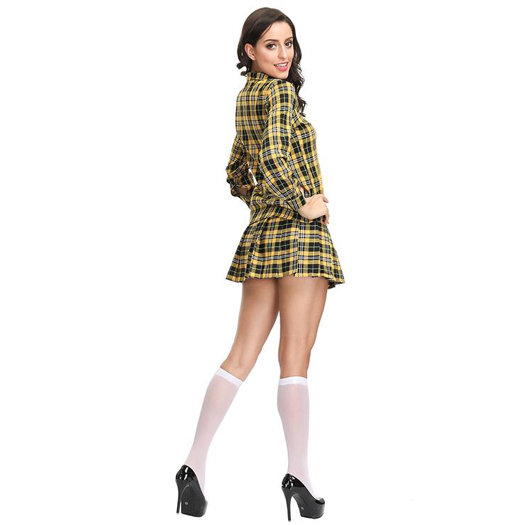 Check Shirt and Mini Skirt School Gilr Set, Sexy Adult School Uniform, Sexy Plaid Skirt Suit, Fashion Student Cosplay Costume, Sexy Plaid Skirt Set Costume, Sexy School Uniform Cosplay for Women, Adult School Girl Role Play Costume, Bra Top and Skirt Set, #N19122
