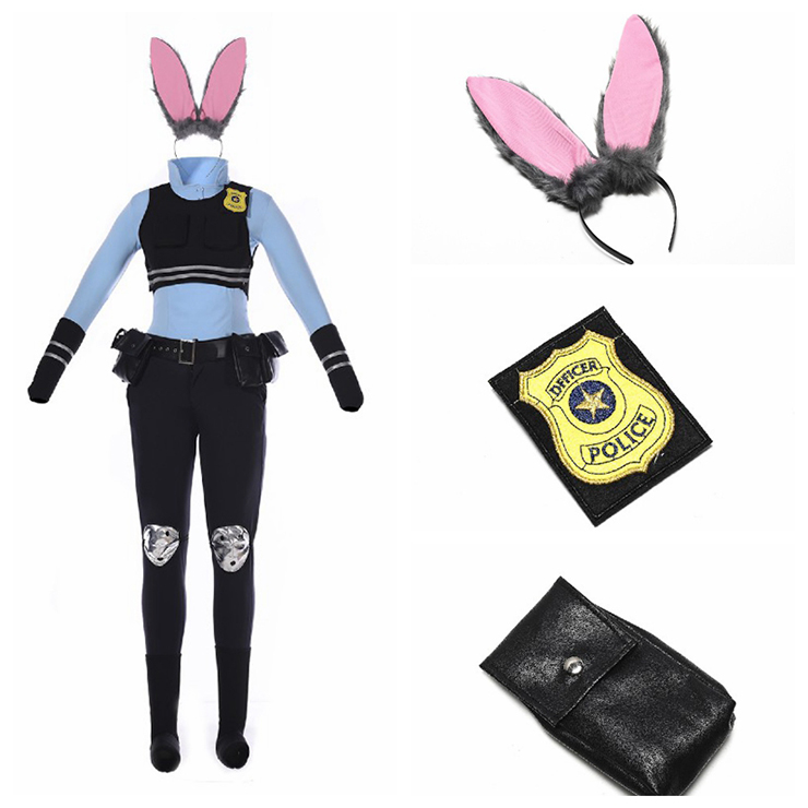 Cheap Cosplay Costume, Policewoman Costume, Bunny Girls Costume, Hot Selling Halloween Costume, #N11347