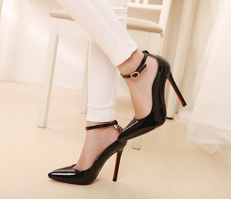 High Heel Ankle Strap Pumps | Tsaa Heel
