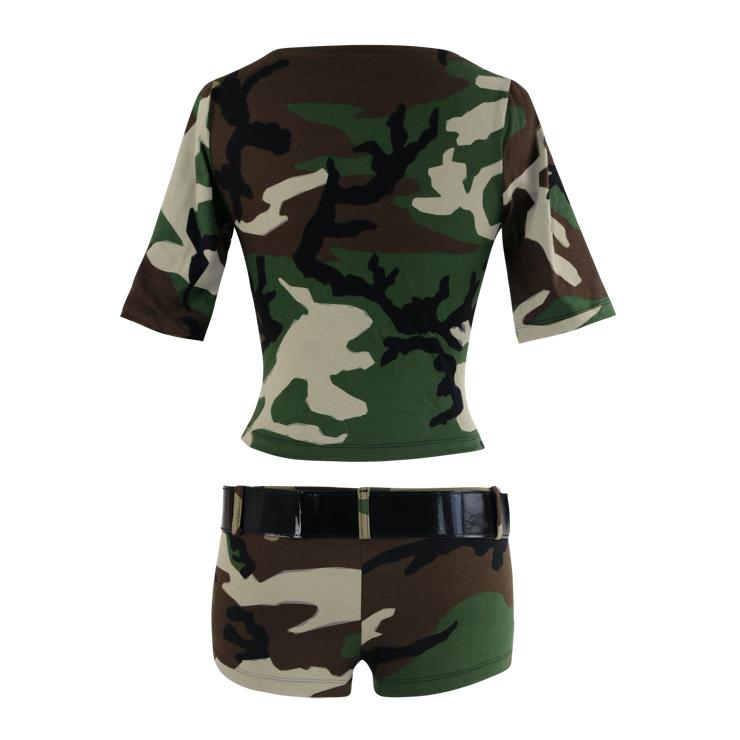 Sexy Army Camouflage Uniform Costume, Women