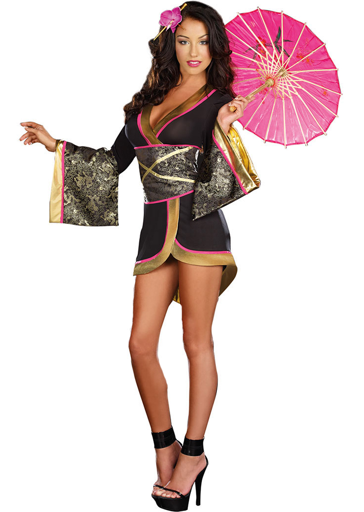 asian persuasion geisha sexy costume g8813. Black Bedroom Furniture Sets. Home Design Ideas