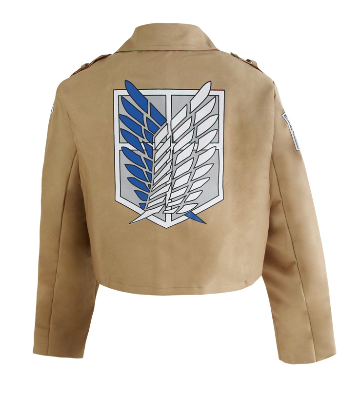 attack on titan jacket cosplay costume n12709. Black Bedroom Furniture Sets. Home Design Ideas