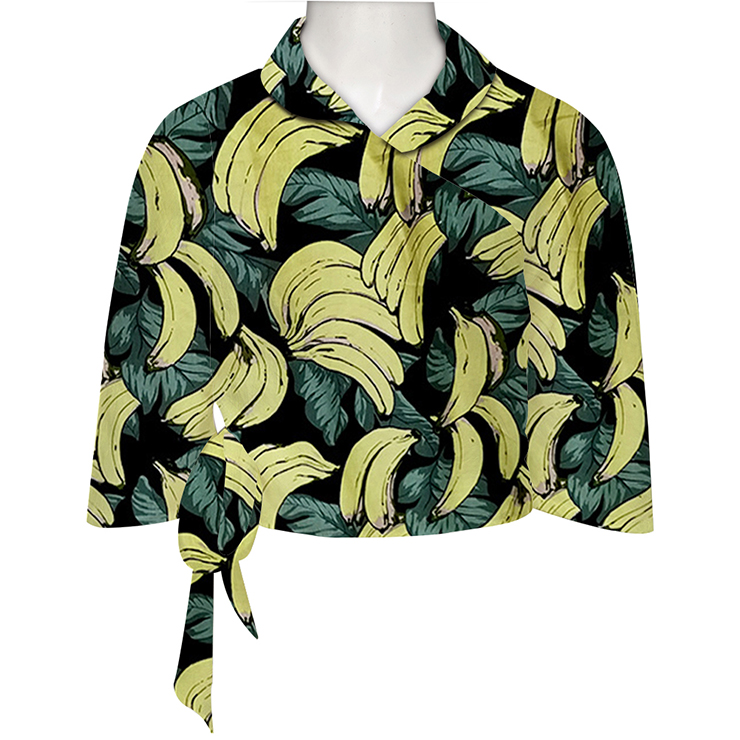 Fashion Top for Women, Half Sleeve Round Neck Top, Banana Cotton Blouse, Women