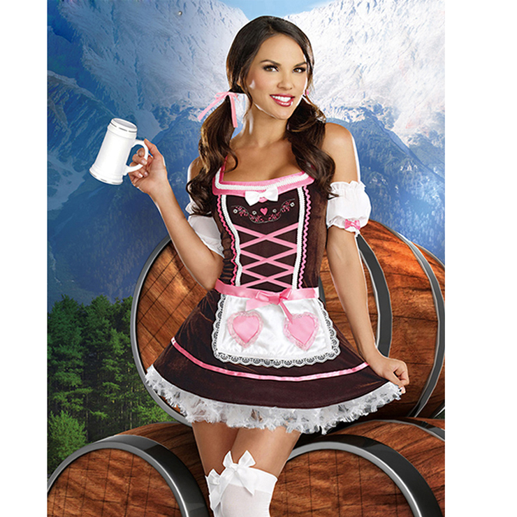 Beer Girl Carrie Me Home Costume N6352