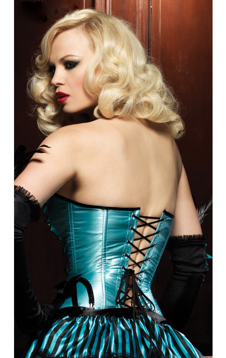 Betty Corset with Support Boning, Ruffle Corset, Strapless Corset, #N4440