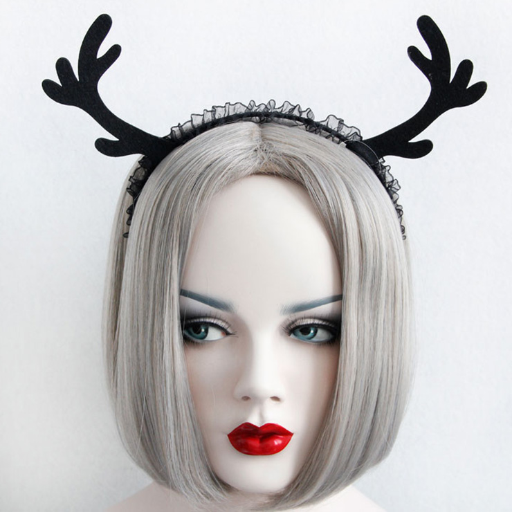 Super cute Black Deer Ear  Hairband J12852