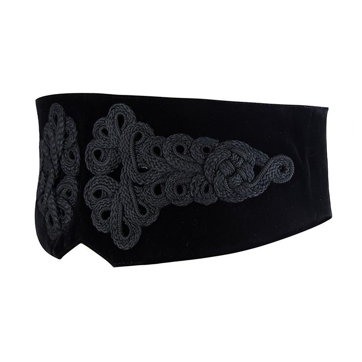 Tied Wasit Belt, High Waist Corset Cinch Belt, Steampunk Wasit Belt, Waist Cincher Belt Black, Lace Up Wide Waistband Cinch Belt, #N14154