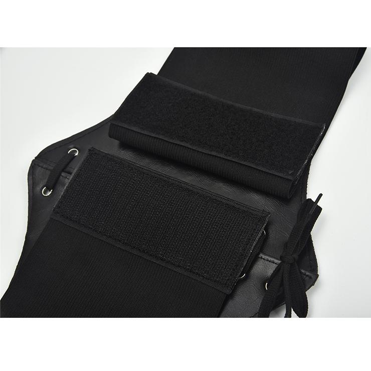 Tied Wasit Belt, High Waist Corset Cinch Belt, Steampunk Wasit Belt, Waist Cincher Belt Black, Elastic Wide Waistband Cinch Belt, Lace Up Wide Waistband Cinch Belt, #N18654