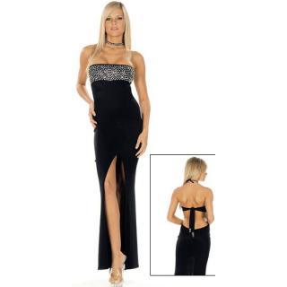 Black Sequin Long Dress N8246