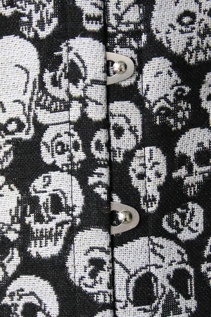 Black Skull Underbust Corset, Skull Underbust Corset, Sexy Skull Underbust Corset, #N4559