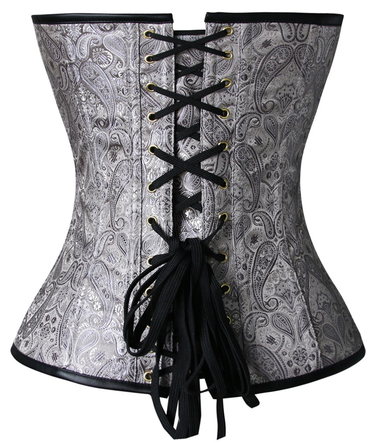 Steampunk Overbust Corset, Black Steel Bone Corset, Faux Leather Corset, Women
