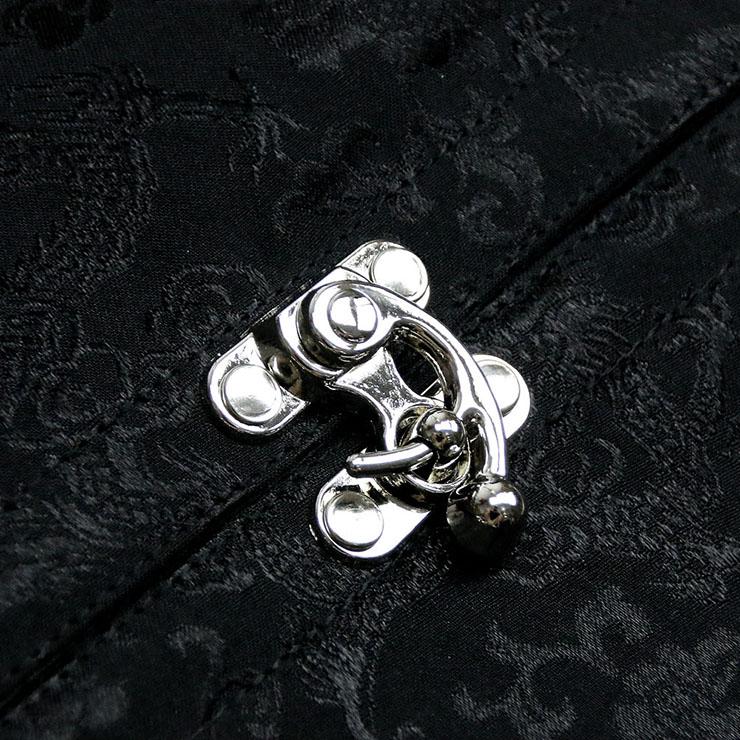 Steampunk Black Underbust Corset, Sexy Steel Boned Corset, Hot Sale Jacquard Corset with Jacket, Women