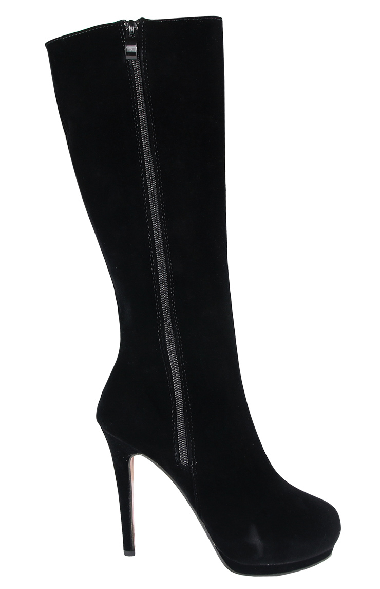 black suede knee boots swb80027