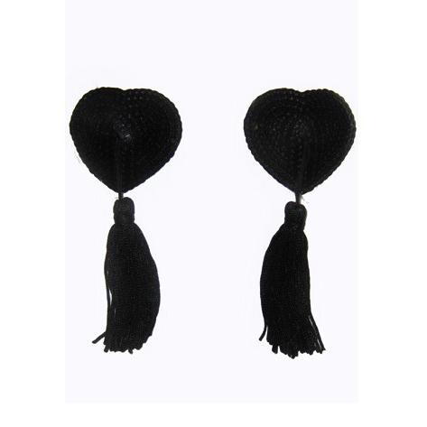 Black Tassel Heart Pasties MS7275
