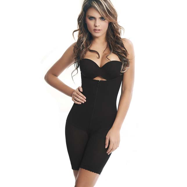507e740888 Women s Compression Black Tummy Control Butt Lifter Zipper Shapewear  Bodysuits N10988