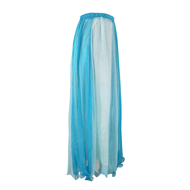 Wrapped Chest Contrast Color Tent Dress, Giant Swing Split Joint Maxi Boho Skirt, Strapless Two Dressing Ways Dresses, #N9065