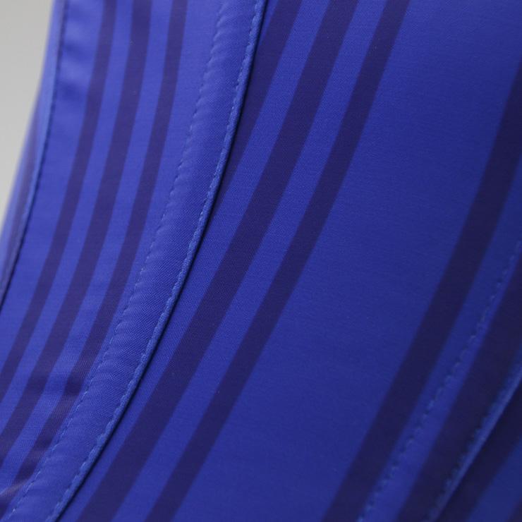 Steel Boned Waistcoat Corset, Steampunk Waist Cincher Underbust Corset, Stripe Waistcoat Underbust Corset, Waist Cincher Vest Corset, Sexy Blue Corset for Women, #N15190