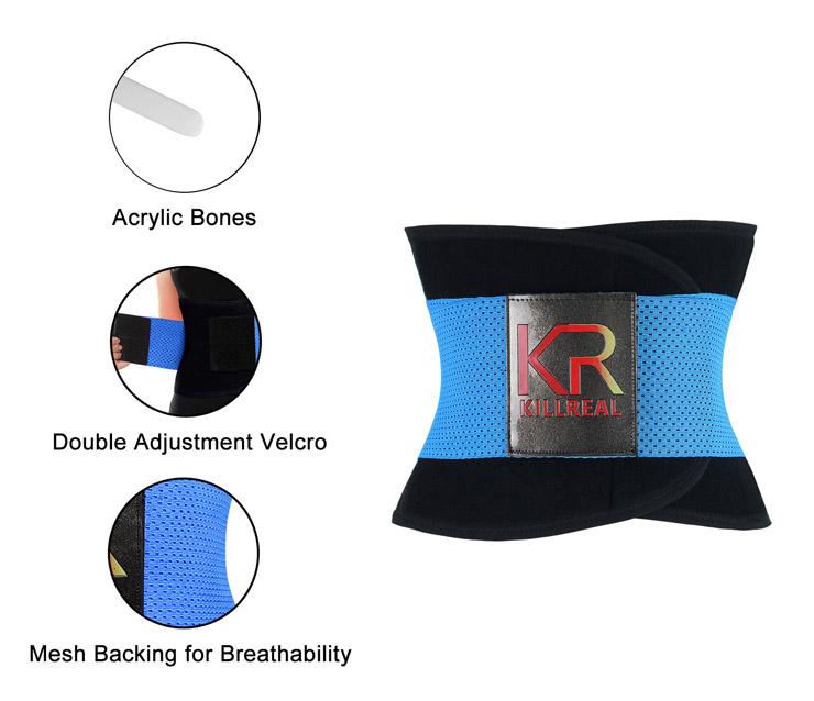 Waist Gym Trainer Corset, Waist Trainer Cincher Belt, Slimmer Body Shaper Belt, Cheap Sport Gym Waist Cincher Belt, Acrylic Bones Corset Belt, #N11019