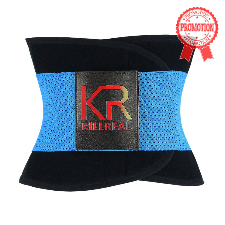 Workout Sport Gym Blue Waist Trainer Belt Body Shaper for Hourglass Shape N11019