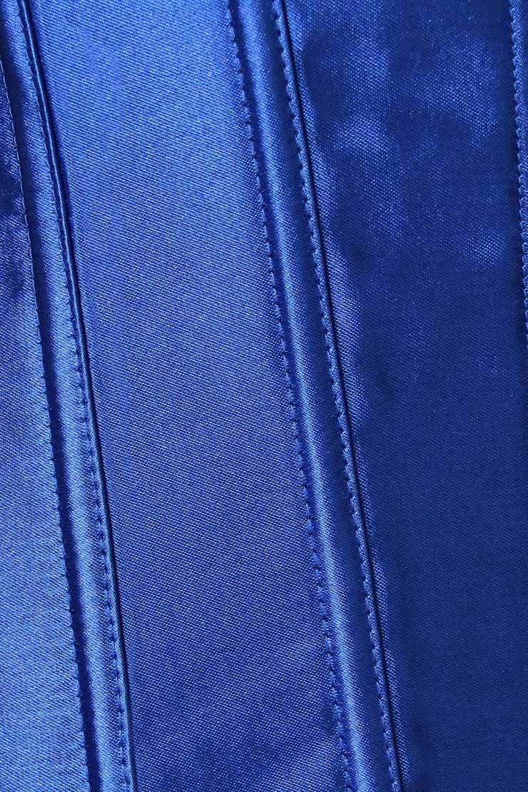 Blue flowers corset, flowers corset, Satin corset, #N1323
