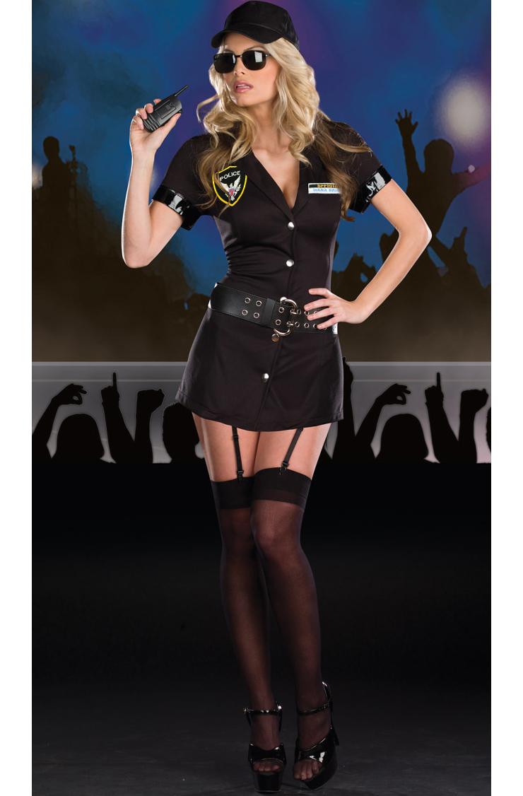 Body Guard Eva Destruction Costume, Womens Bodyguard Costume, Adult Cop Sexy Costume, #N4307
