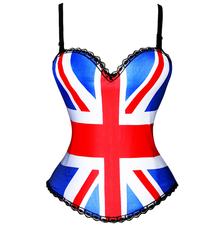 British flag Print Corset N1973