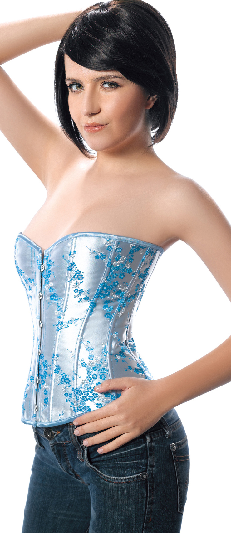 underwire bustier, Brocade Corset, Sexy Plus Size Corsets, #N2265