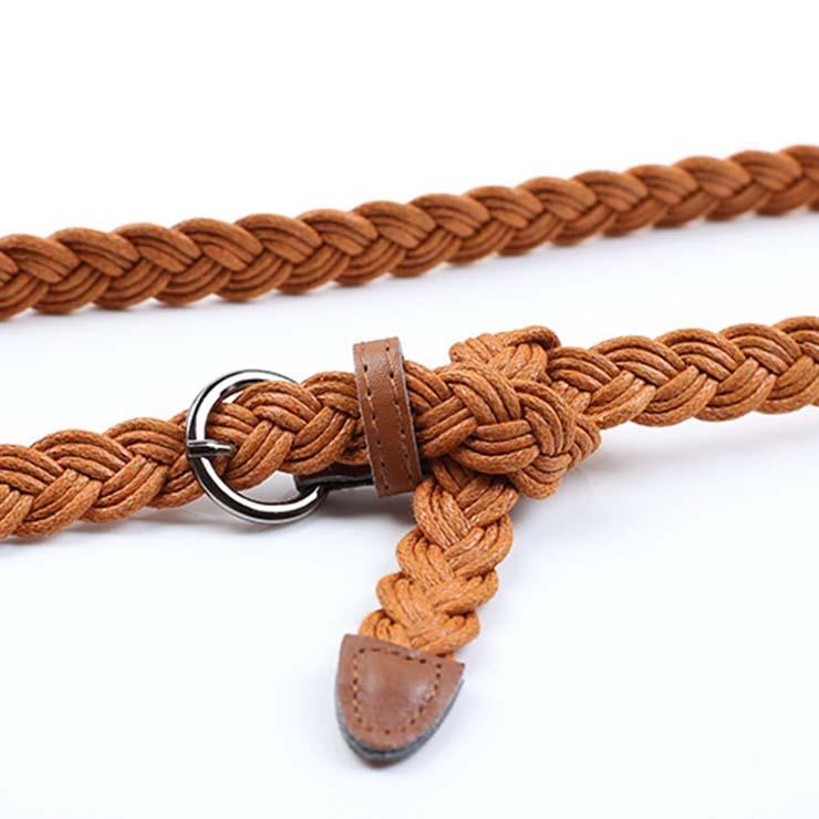 Fashion Waist Belt for Women, Metal Waist Belt, Braided Waist Belt Brown, Waist Belt for Women, Fashion Dress Waist Belt, Brown Braided Belt for Women, #N16057