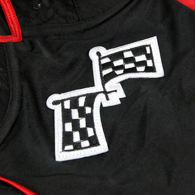 Built For Speed Costume, Light Up Racer Girl Costume, Womens Racer Costume, Light Up Racer Costume, Acing Gril Costume, Sexy Racing Gril Costume, Red-black Black-white Grid Racing Gril Costume#N6197
