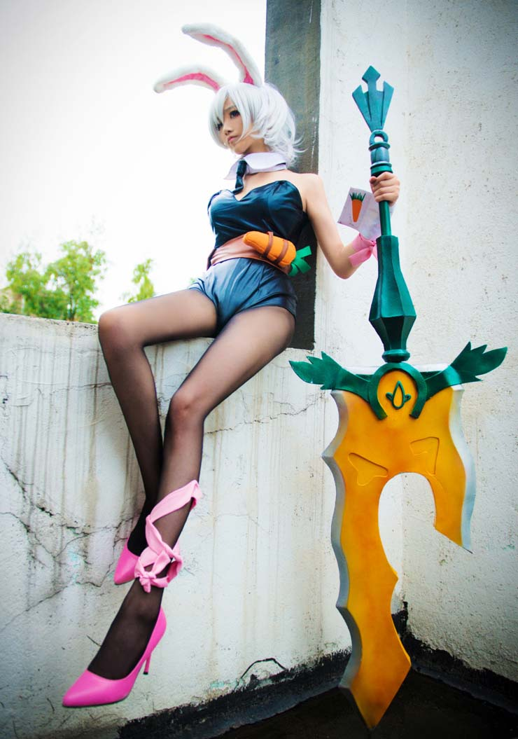 Cheap Cosplay Costume, Hot League of Legends Costume, Bunny Girls Costume, Hot Selling Halloween Costume, #N10141