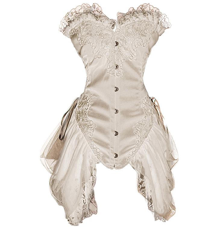 Burlesque White Bustier N6315