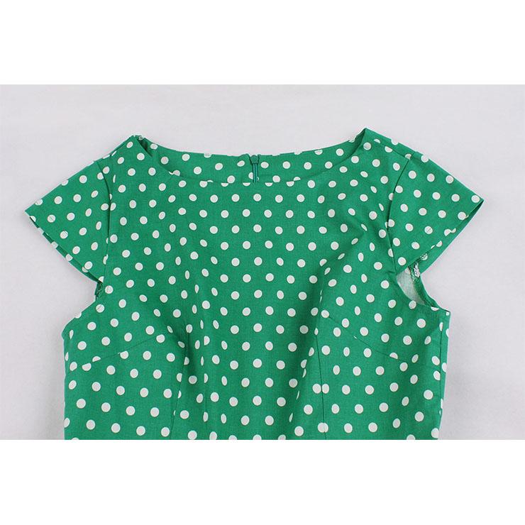 Vintage Cap Sleeve Plaid Midi Dress, Retro Plaid Ruffled Swing Dress, Classical Cap Sleeve Printed Midi Dress, Women