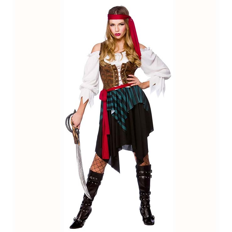 Women's Caribbean Pirate Maiden Costume N14743