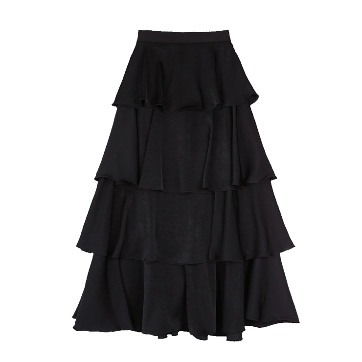 casual midi tiered layered skirt n13066