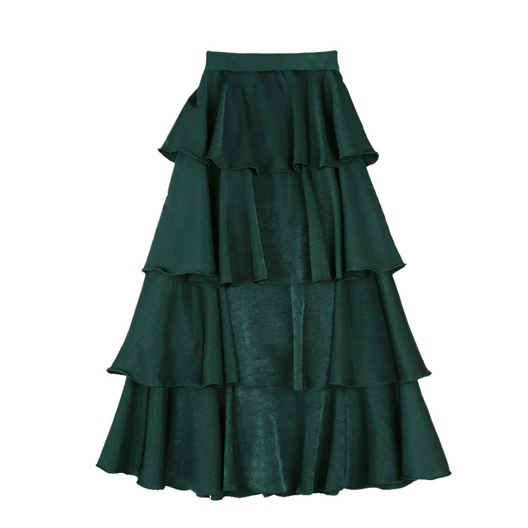 casual midi tiered layered skirt n13067