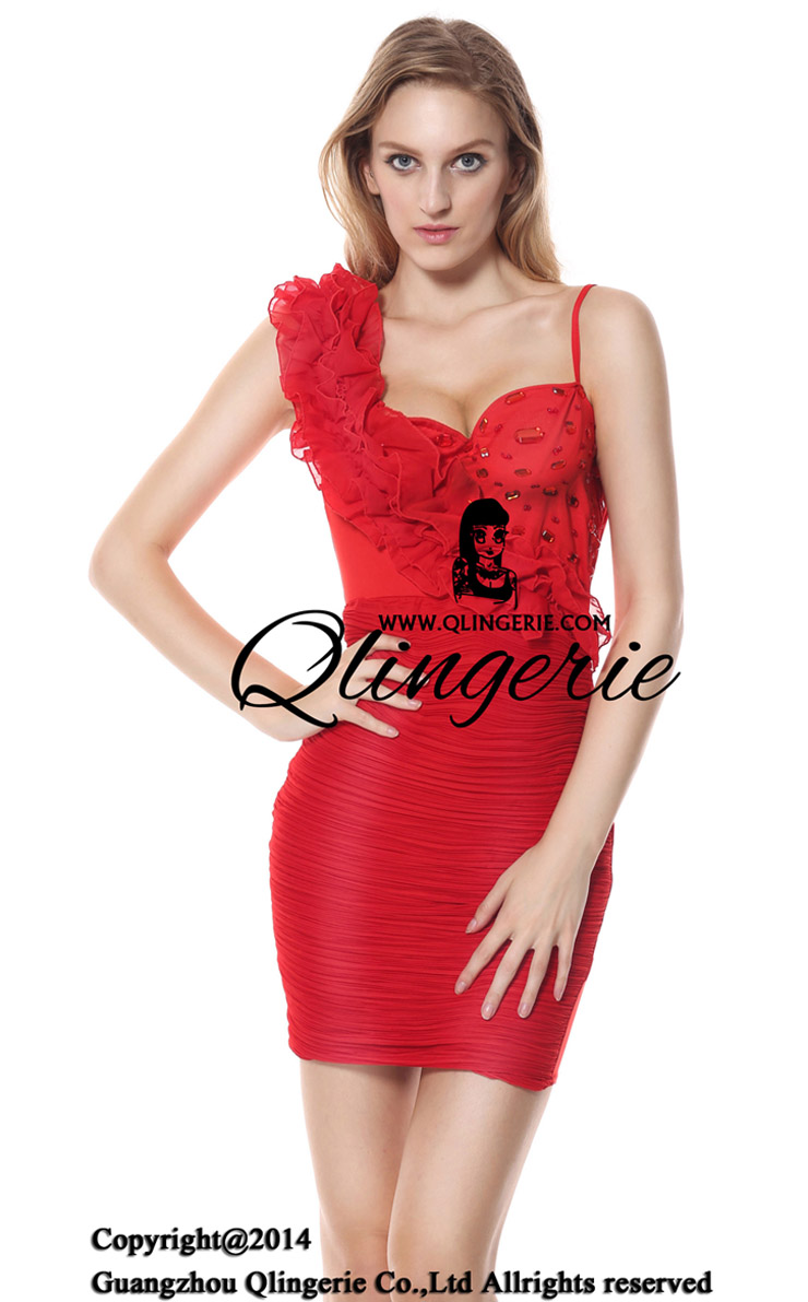 Rotes Party Kleid Charlotte, Charlotte Fiesta Red Dress, Red party dress Charlotte, #N6768