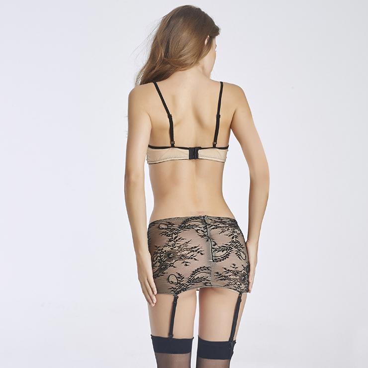 Sexy Lace Lingerie Set, Fashion Mini Dress, Cheap Sleepwear for Women, Lace Bra Set Lingerie, #N11278