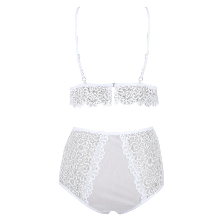Plus Size Lace Lingerie Set, Sexy White Lingerie Set, Cheap Fashion Lingerie Set, Valentine