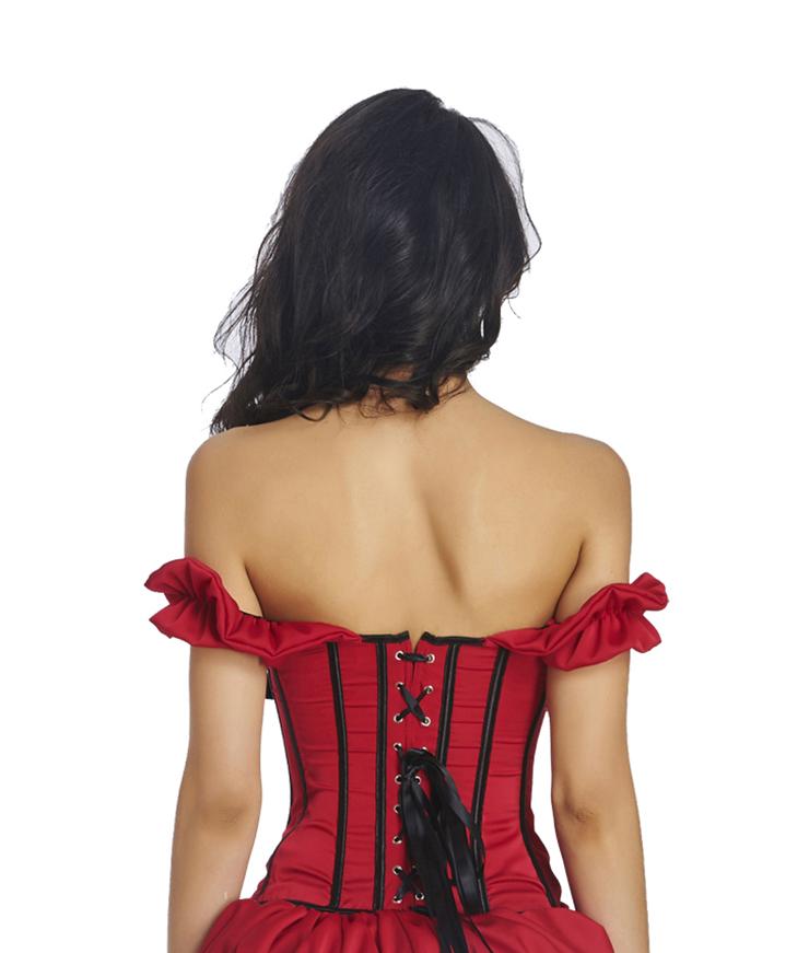 Fashion Body Shaper, Cheap Shapewear Corset, Womens Bustier Top, Sexy Christmas Bustier Corset, Outerwear Corset for Women, Bridal satin corset, #N11354