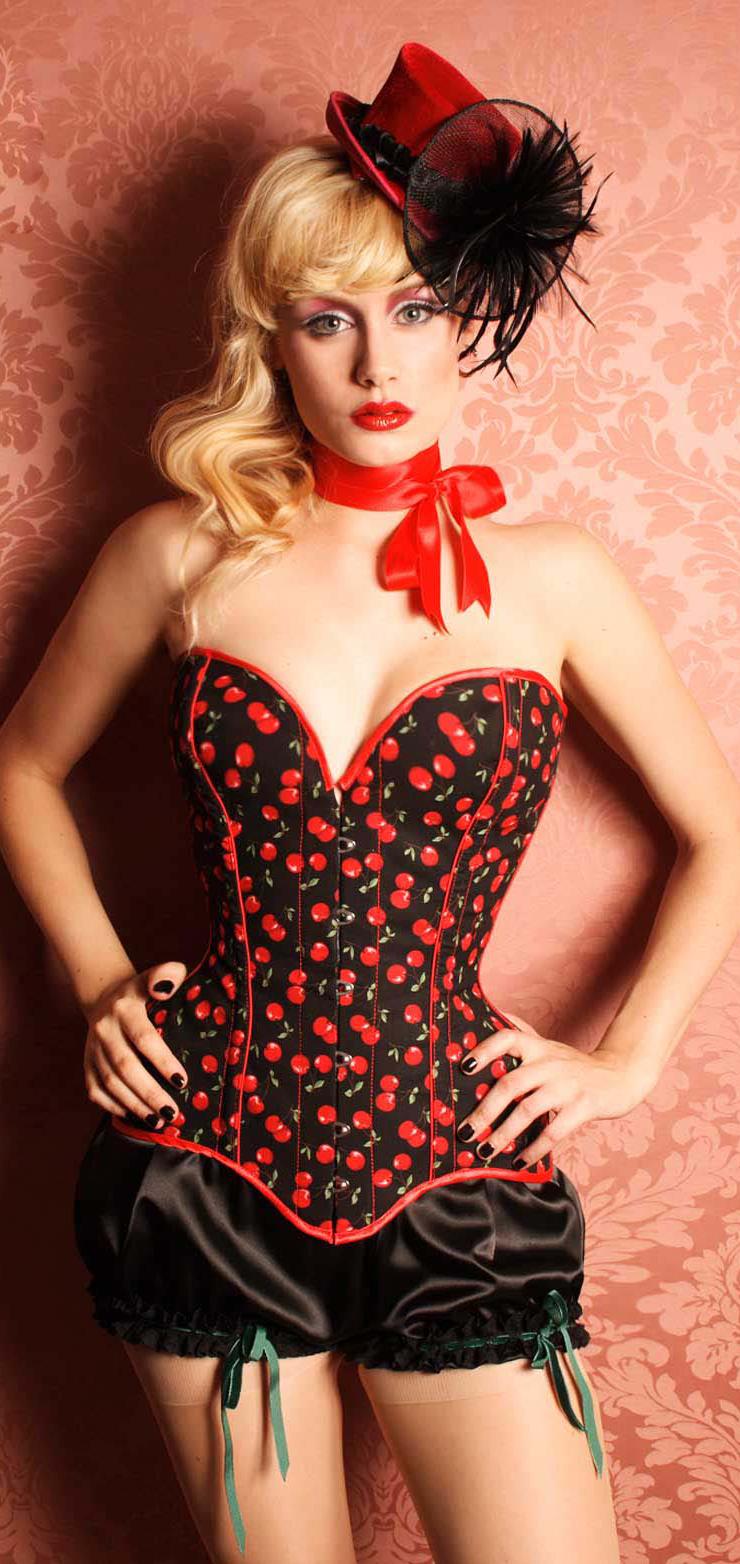 Cherry Corset, Corsets, Burlesque Corset, #N2150