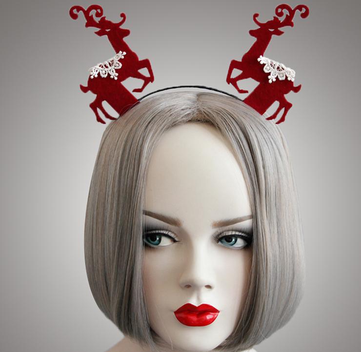 Christmas Elk Hair Hoop for Party J12915