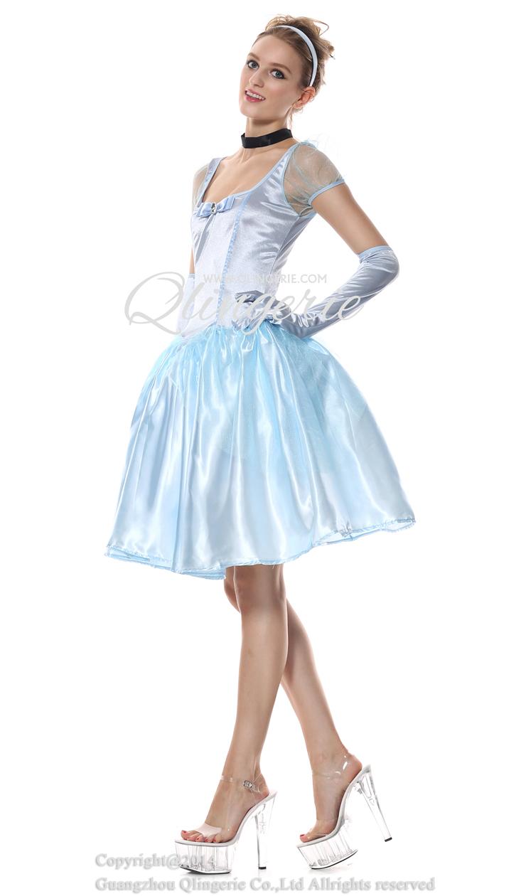 Storybook Beauty Costume, Adult Cinderella Costume,Disney Cinderella Costume, Adyult Pantomine Cinderella Costume, Fairy Tale Cinderella Costume, Elegant Short Cinderella Dress#N6561