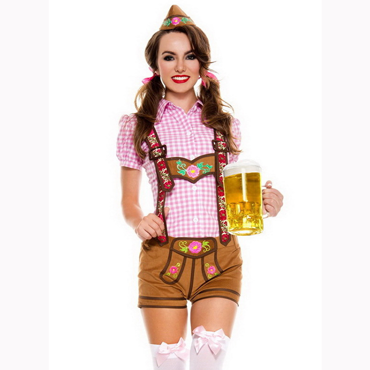 Classical Adult Beer Girl Maid Role Play Germany Oktoberfest Costume N17126