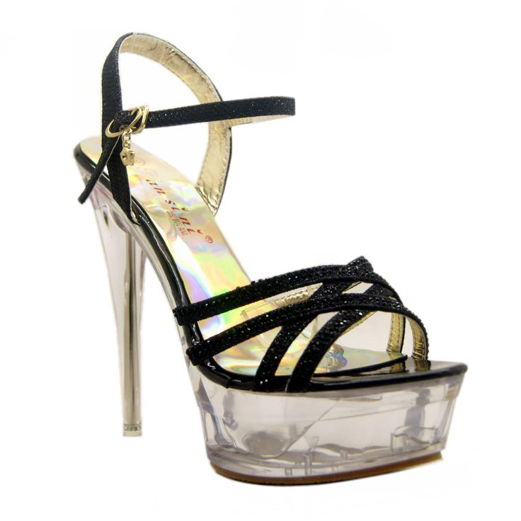 clear mid platform sandals sws20025