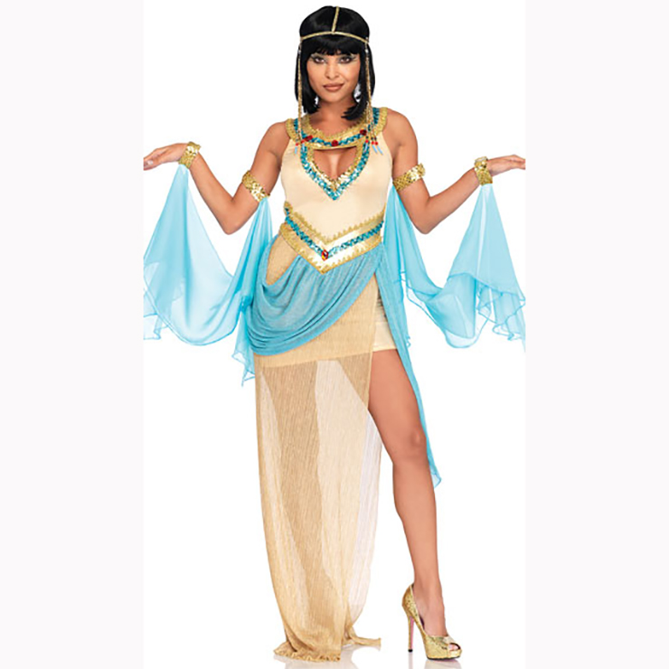 baf01f5ec062 Classical Cleopatra Egyptian Goddess Halloween Adult Dance Costume N17198