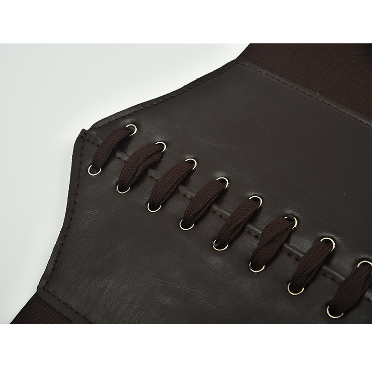 Tied Wasit Belt, High Waist Corset Cinch Belt, Steampunk Wasit Belt, Waist Cincher Belt Black, Elastic Wide Waistband Cinch Belt, Lace Up Wide Waistband Cinch Belt, #N18655