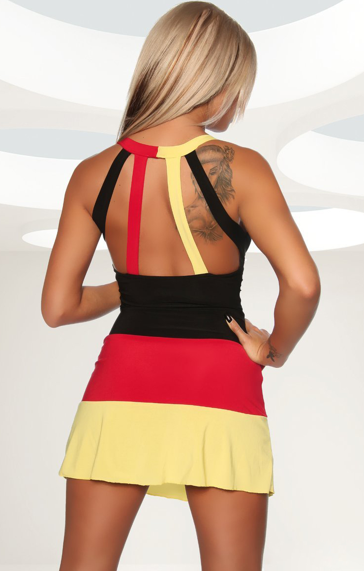 Germany Flag Dress, Color Blocked Germany Halter Mini Dress, Striped ...: www.malltop1.com/Products/2014/5/Color-Blocked-Germany-Halter-Dress...