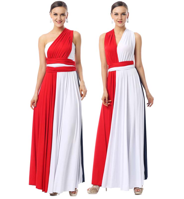 2016 Elegant Colorful A-line Strapless Floor-Length Long Evening Dresses F30004