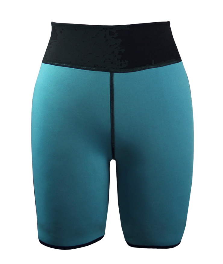 Neoprene Sauna Hot Capri Pants, Neoprene Workout Shorts, Plus Size Neoprene Shorts, Women