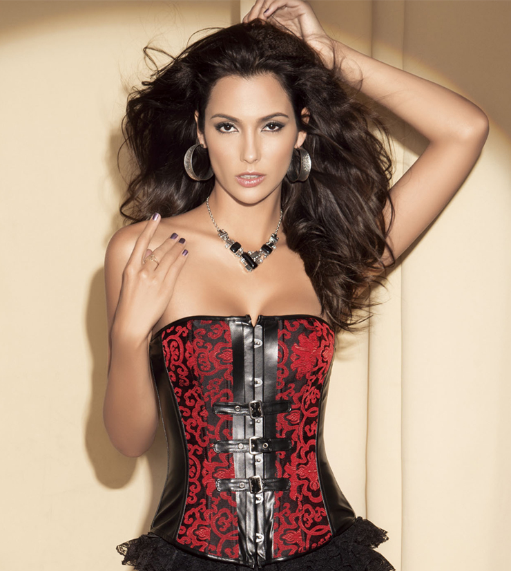 buckle accents corset N4401